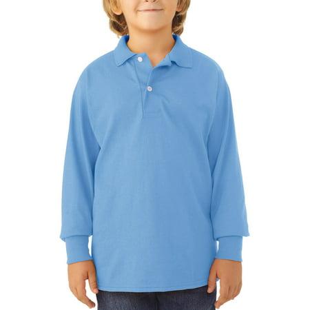 Jerzees School Uniform SpotShield Long Sleeve Polo (Little Boys & Big Boys)