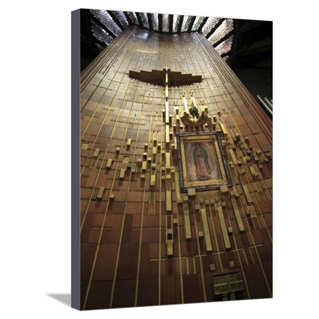 Shroud of Our Lady of Guadalupe, Modern Or New Basilica, Our Lady of Guadalupe, Mexico City, Mexico Stretched Canvas Print Wall Art By Wendy (Our Lady Of Guadalupe New York City)