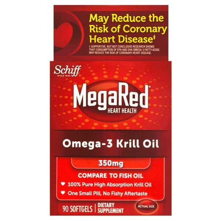 Megared 350Mg Omega 3 Krill Oil  90 Softgels