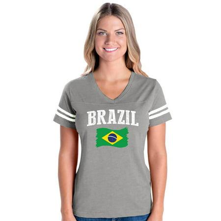 Brazil Womens V-Neck Fine Jersey Tee ()