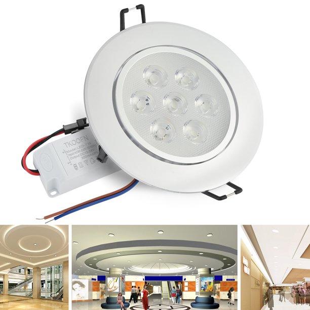 Tkoofn 7w Led Ceiling Downlights Recessed Spotlights Down Lamp Lighting Bulb Warm White Walmart Com Walmart Com