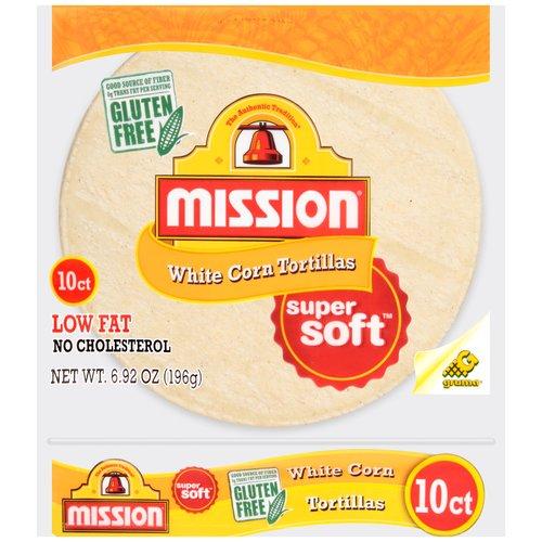 Mission White Corn Tortillas, 10 count, 6.92 oz