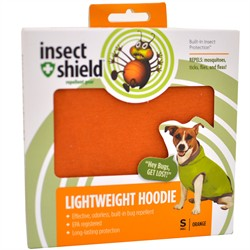 Insect Shield Lightweight Hoodie Small, Orange