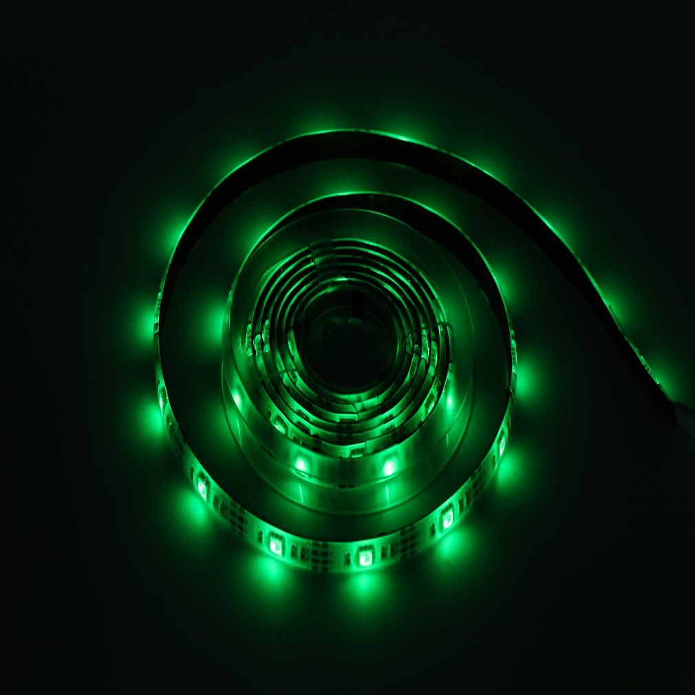 Waterproof 5050 SMD LED RGB Multicolor Battery Powered LED Flexible Light Strip Light Up Colorful Home Life