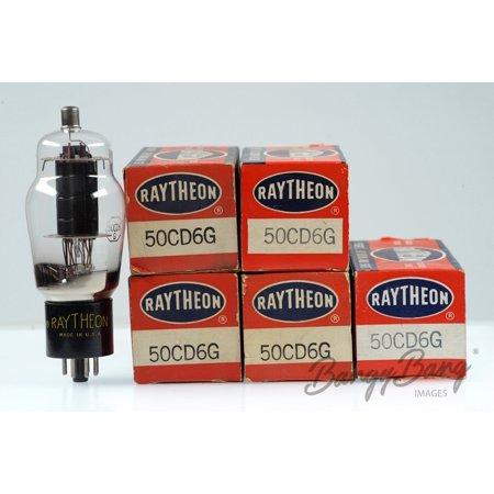 - 5 Vintage Raytheon 50CD6G Octal Vacuum Pentode Line Output Stage TV Receivers Valve - BangyBang Tubes