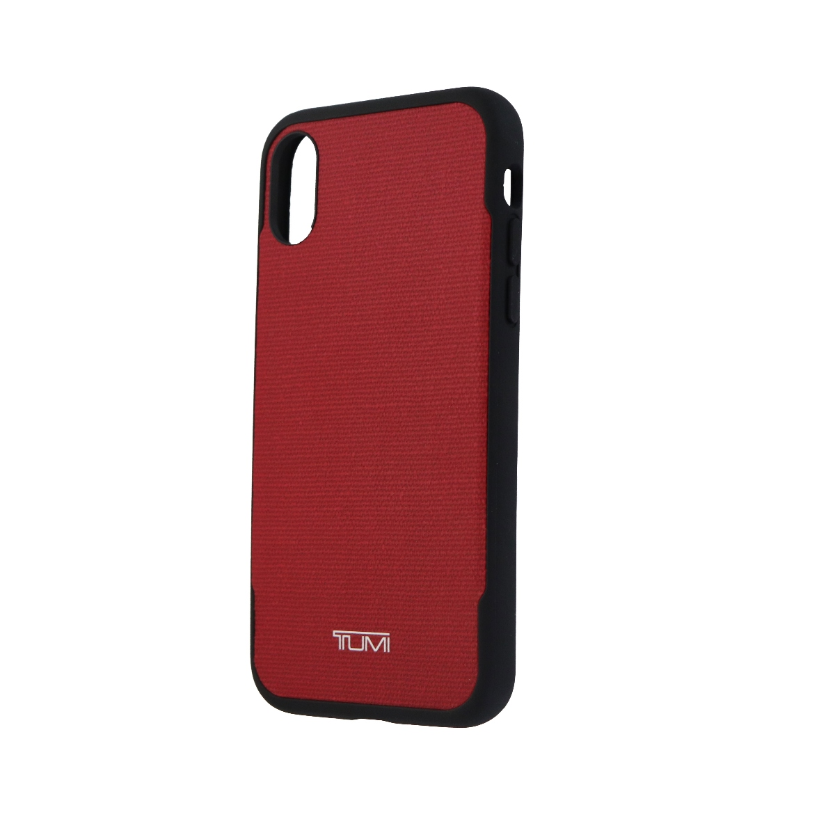 best service cb3c2 5cdb5 Tumi Canvas Co-Mold Series Hybrid Case for Apple iPhone X 10 - Red  Canvas/Black
