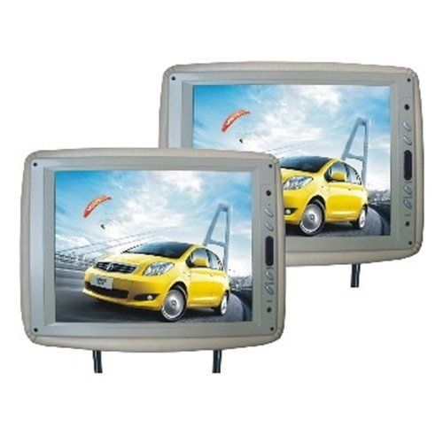 "Tview T120PLTAN 12"" Tft Lcd Headrest Monitor Tan Pair"