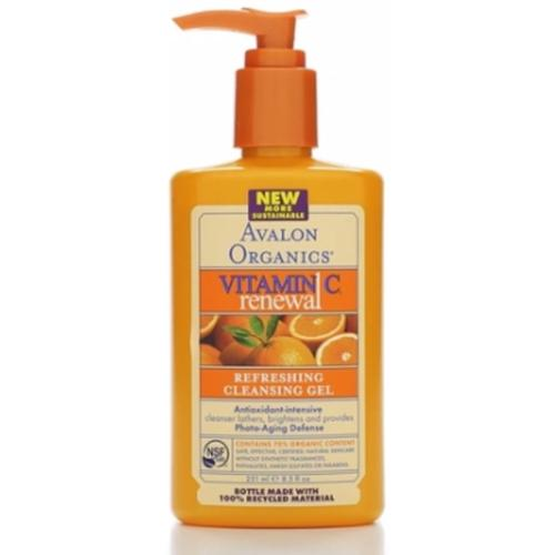 Avalon Organics Vitamin C Refreshing Cleansing Gel 8.50 oz (Pack of 6)