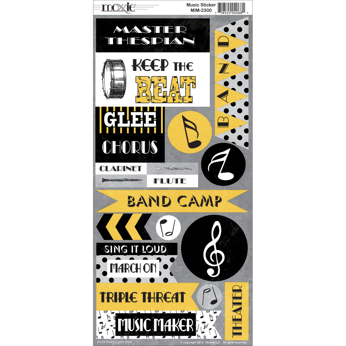 Music In Me Cardstock Stickers