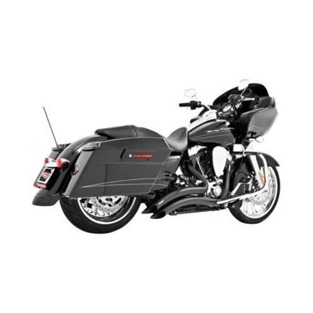 Freedom Performance HD00646 Sharp Curve Radius Exhaust System - Black with Scallop Cut