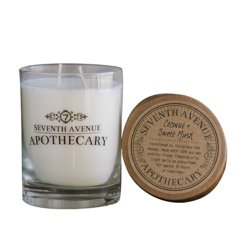Seventh Avenue Apothecary Coconut and Sweet Musk Candle