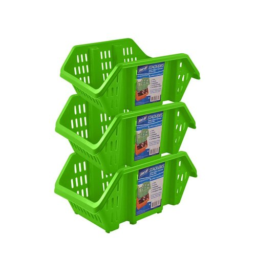 Rebrilliant Stack-Em's- Stackable Storage Bin (Set of 3)
