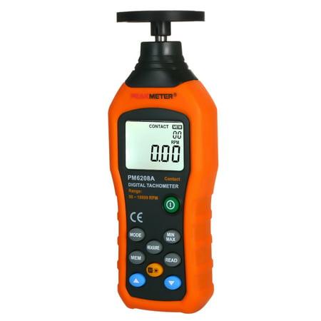 PEAKMETER Tachymètre numérique Tachymètre avec moteur à contact à cristaux liquides Compteur de vitesse LCD Compteur de vitesse tachymètre Compteur tachymètre numérique à contact large Plage de mesure - image 6 of 7