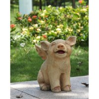 HI-LINE GIFT LTD. LAUGHING PIG WITH WINGS SITTING
