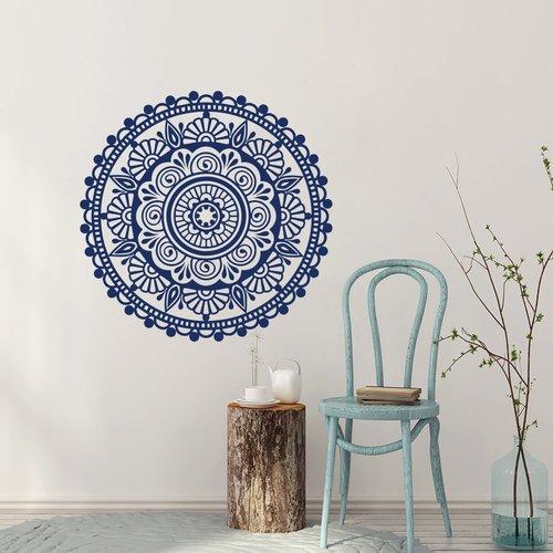 Decal House Mandala Yoga Decor Ornament Mehndi Bedroom Wall Decal