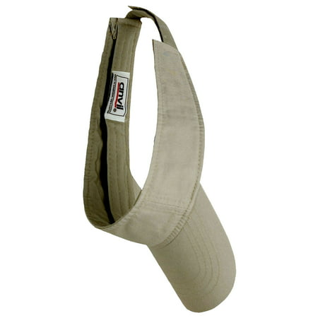 - Solid Low Profile 3 Panel Twill Visor