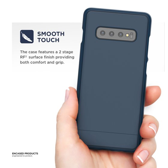 Encased Slim Galaxy S10 Case (2019 Slimshield Series) Ultra Thin Protective  Armor Grip Phone Cover for Samsung Galaxy S10 - Navy Blue