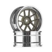 HPI RACING 113090 DY Champion 26mm Wheel Chrome/Bronze 6mm OS (2)