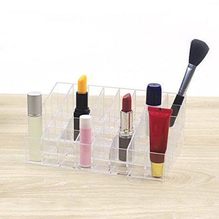 HC-TOP 24 Grid Lipstick Holder Plastic Cosmetic Organizer Lipsticks Display Rack - image 2 de 6