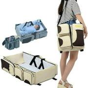 Travel Crib Foldable Portable Bassinet Diaper Baby Cot Multifunction Mummy Bag