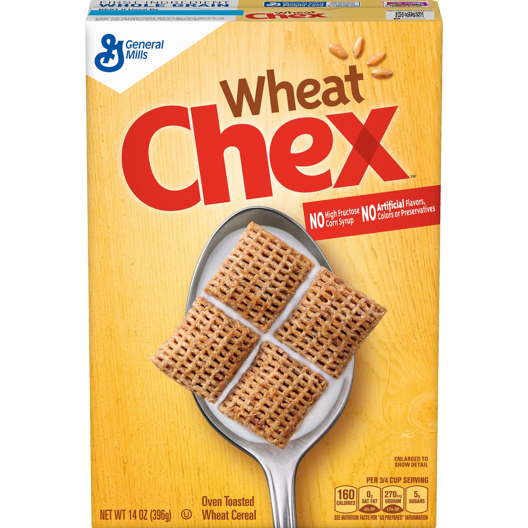 Wheat Chex Breakfast Cereal, 14 oz Box
