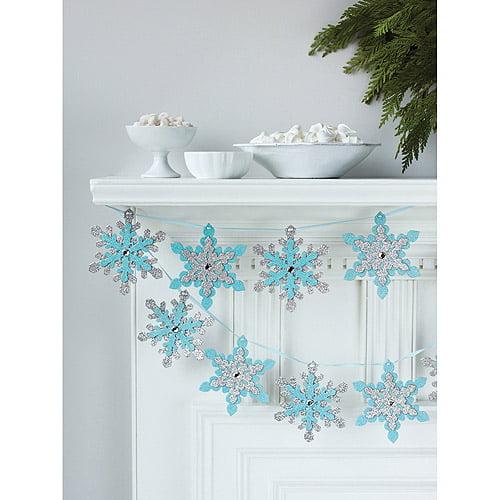 Garland 12 Foot 1/pkg-snowflake Glittere