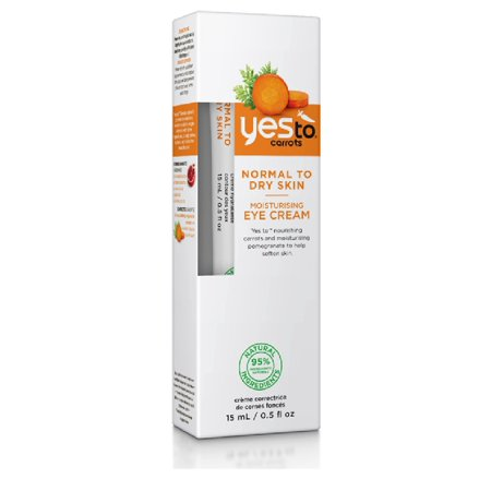 Yes To Carrots Normal To Dry Skin, Moisturizing Eye Cream, 0.5 Oz + Yes to Coconuts Moisturizing Single Use Mask