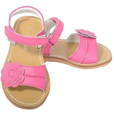 Fuchsia Flower Spring Summer Sandal Shoe Little Girl 12