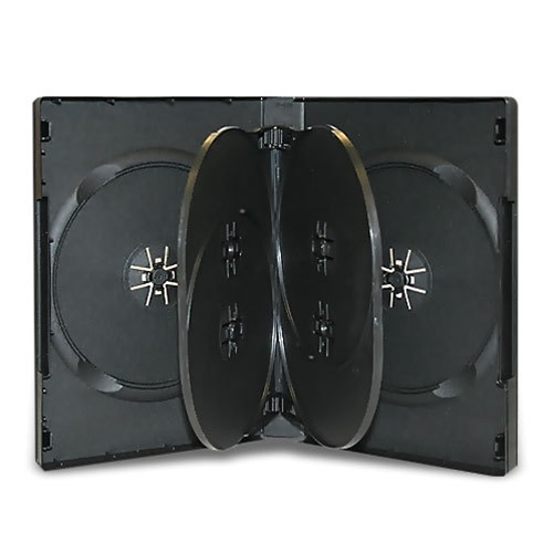 CheckOutStore 25 Black 6 Disc DVD Cases by