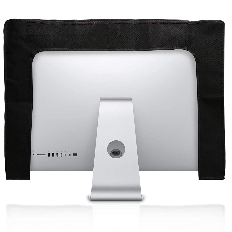 Protector Negro kwmobile Funda de Monitor Compatible con Monitor de 34-35 Cubierta Protectora Antipolvo para Pantalla