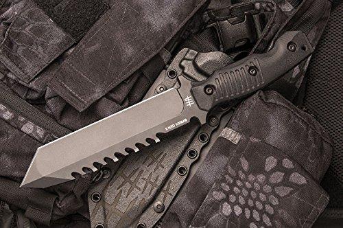 Hardcore Hardware Australia BFK01-GII Generation 2 Survival Knife Black G-10 Handle Black Teflon Blade by Hardcore Hardware Australia