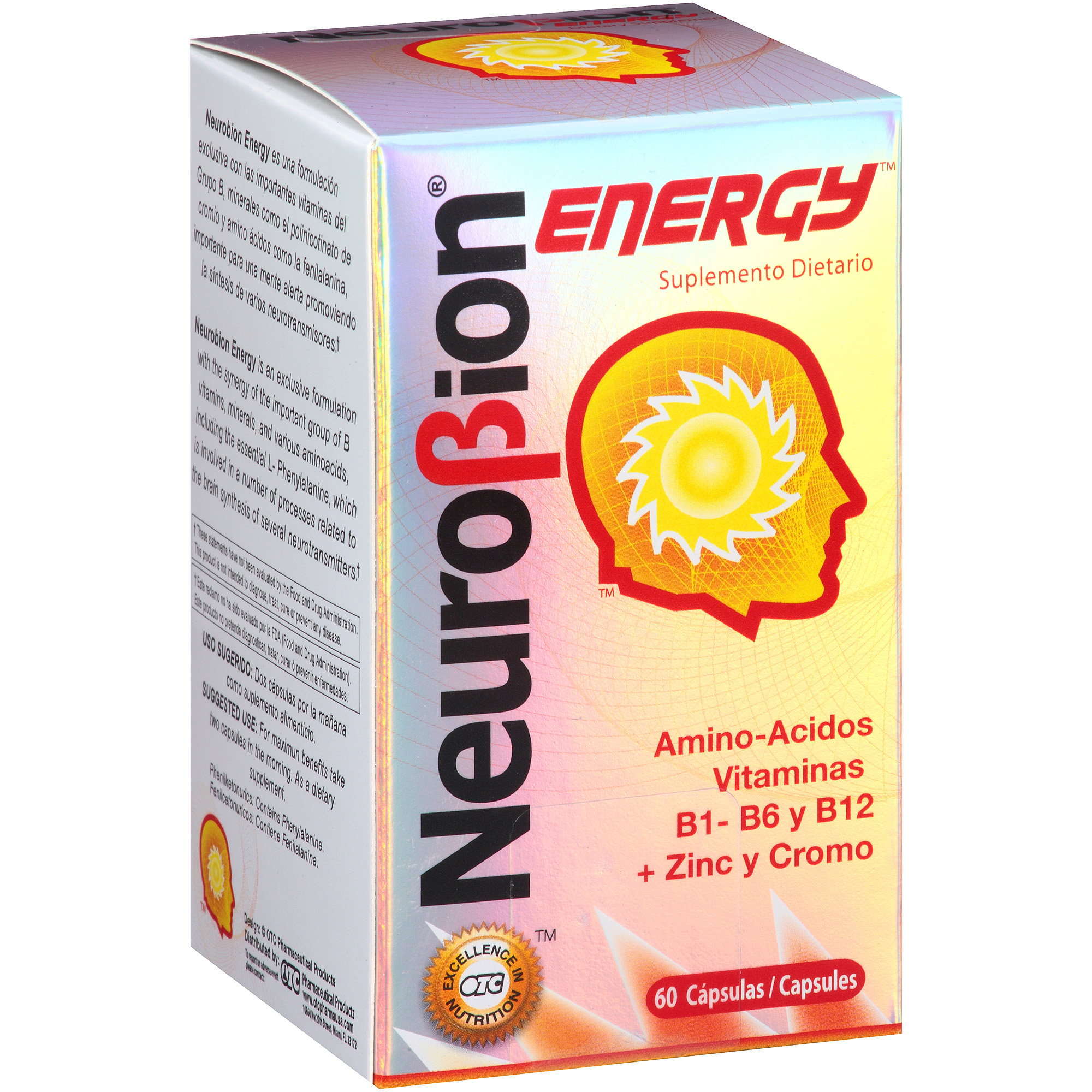 Neurobion Energy Dietary Supplement Capsules, 60 count