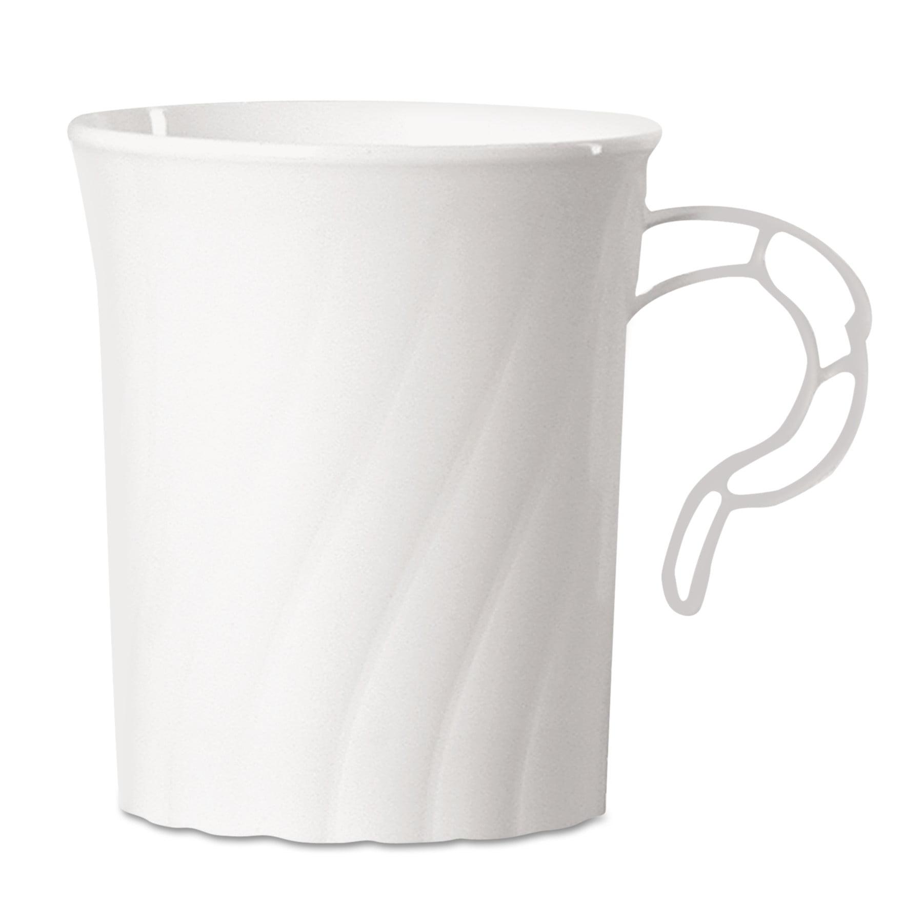 WNA Classicware 8 oz. Plastic Mugs, White, 192 count by WNA, INC.