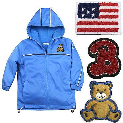 Baby Boys Toddler Jacket Coat Hooded Blue Teddy Bear Stars & Stripes sz 1-6 (Best Rugged Bear Rugged Bear Outdoor Jackets)