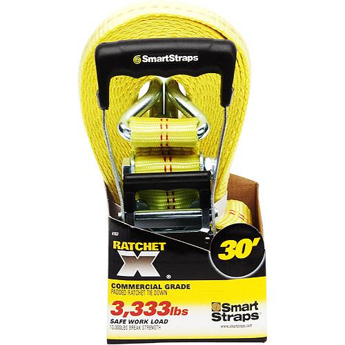 SmartStraps 30' 10,000 lbs. RatchetX, Yellow 1 Pack