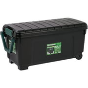 Remington® 43 Gal Rolling Storage Tote with Buckles & Handle, Black/Green
