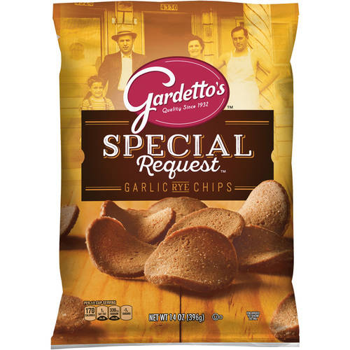 Gardetto's Special Request Roasted Garlic Rye Chips 14 oz. Bag by General Mills Sales, Inc.