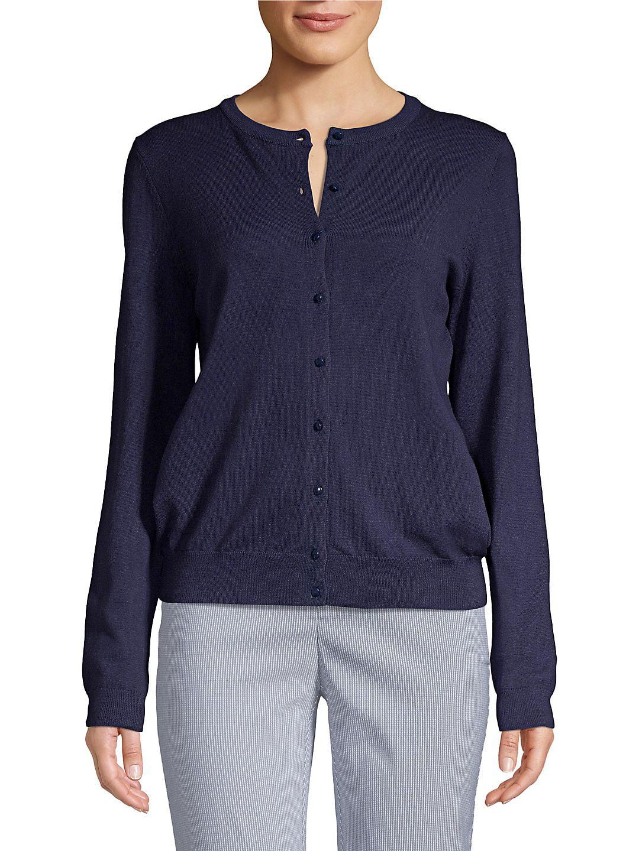 Petite Knit Button Front Cardigan