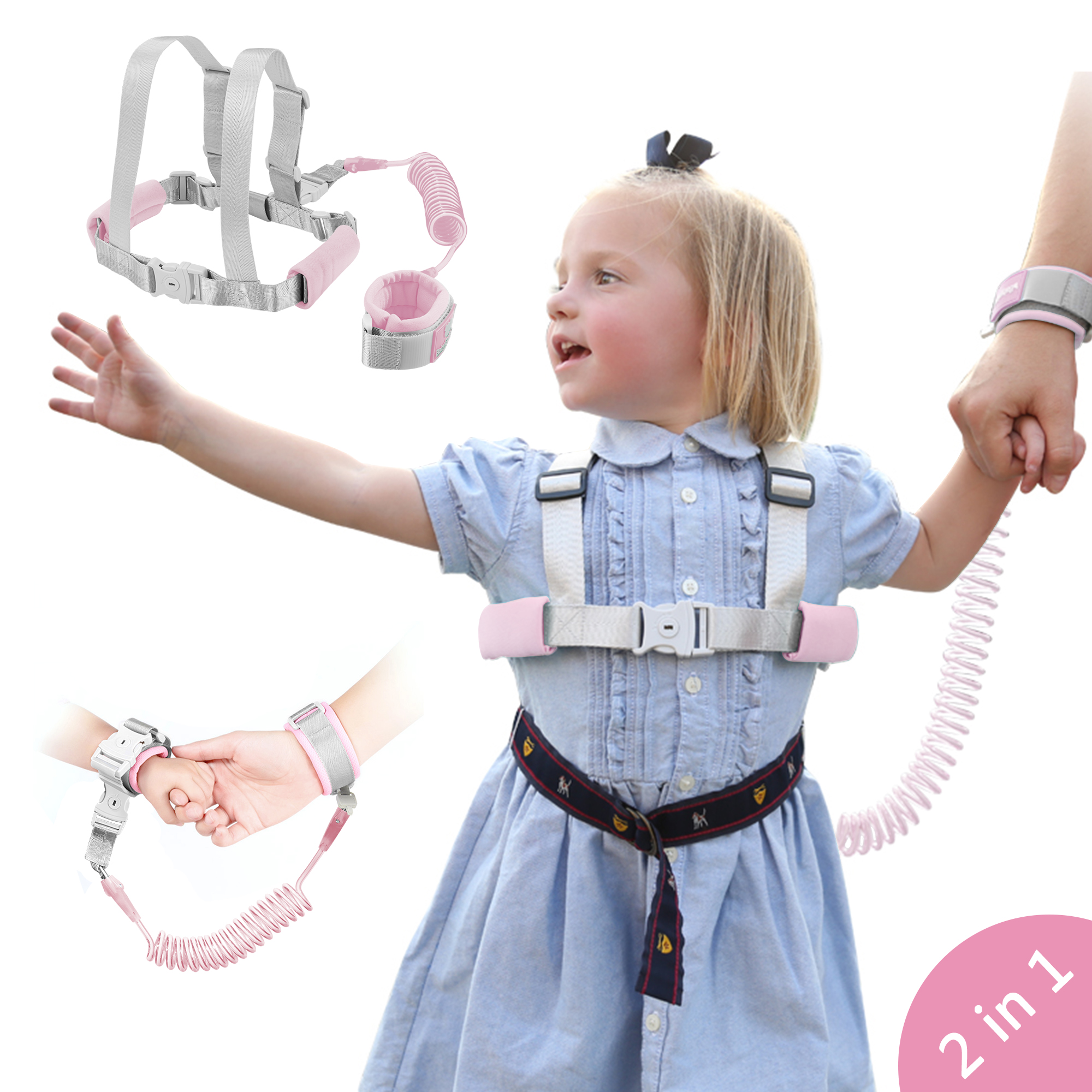 Kids Toddler Harness Walking Leash Child Anti Lost Wrist Link Child Safety Wrist