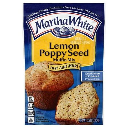 Martha White Lemon Poppyseed Muffin Mix, 6-Ounce