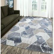 A2Z Monaco 1943 New Geometric Modern Soft Large Dining Room Area Rug Tapis Carpet (5x7 7x9 8x10)