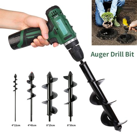 Image of 1PC Auger Drill Bit Drill Head for Digging Hole for Garden Yard Planting Farm Agricultural (Not Include Drill Machine)