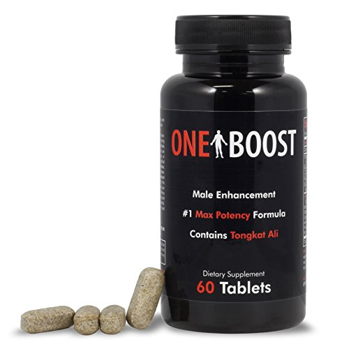 60 Tabs One Boost Testosterone Booster For Men, Tongkat Ali Supplements Proven To Naturally Support Low T Quickly, Increase Energy, Libido & Stamina