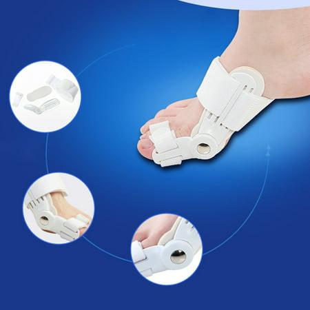 Scheam Toe Thumb Corrector Orthotics Separator Bunion Device Hallux Valgus Pro Orthopedic Braces Big Bone Correction Feet Care  White