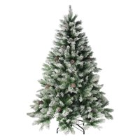 Northlight Flocked Angel Pine with Pine Cones Unlit Christmas Tree