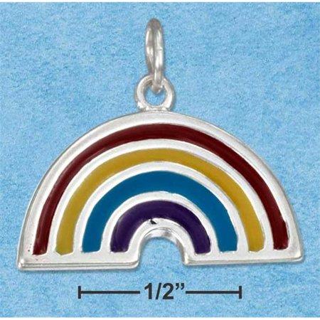 Sterling Silver Enamel Rainbow Charm - image 1 of 1