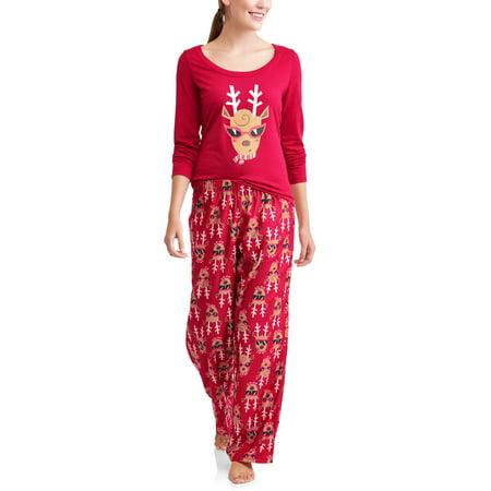 c395068754 Toast   Jammies - Toast   Jammies Holiday Family Sleep Reindeer 2-Piece  Pajama Set (Women s) - Walmart.com