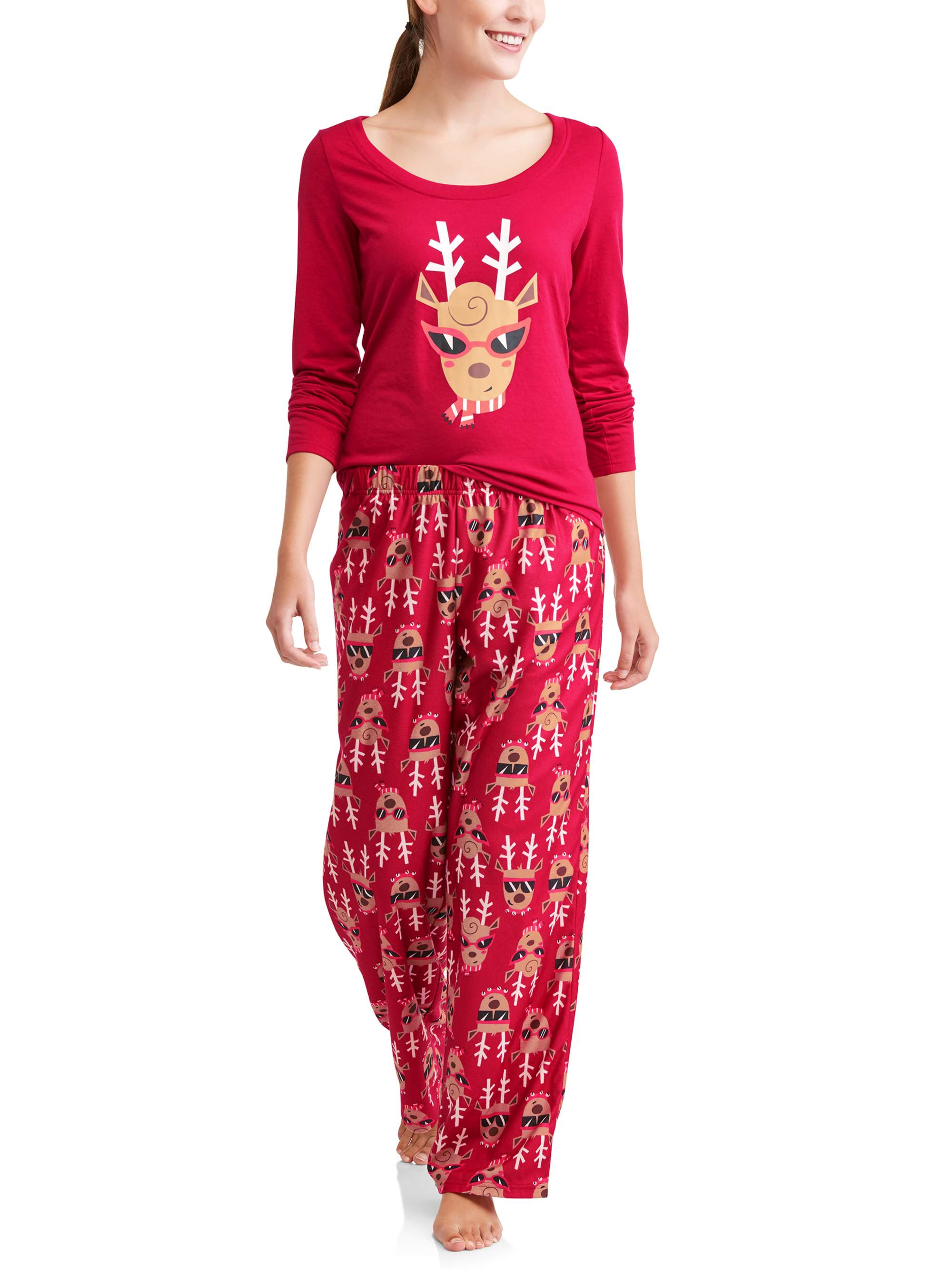 Toast & Jammies Holiday Family Sleep Reindeer 2-Piece Pajama Set (Women's)