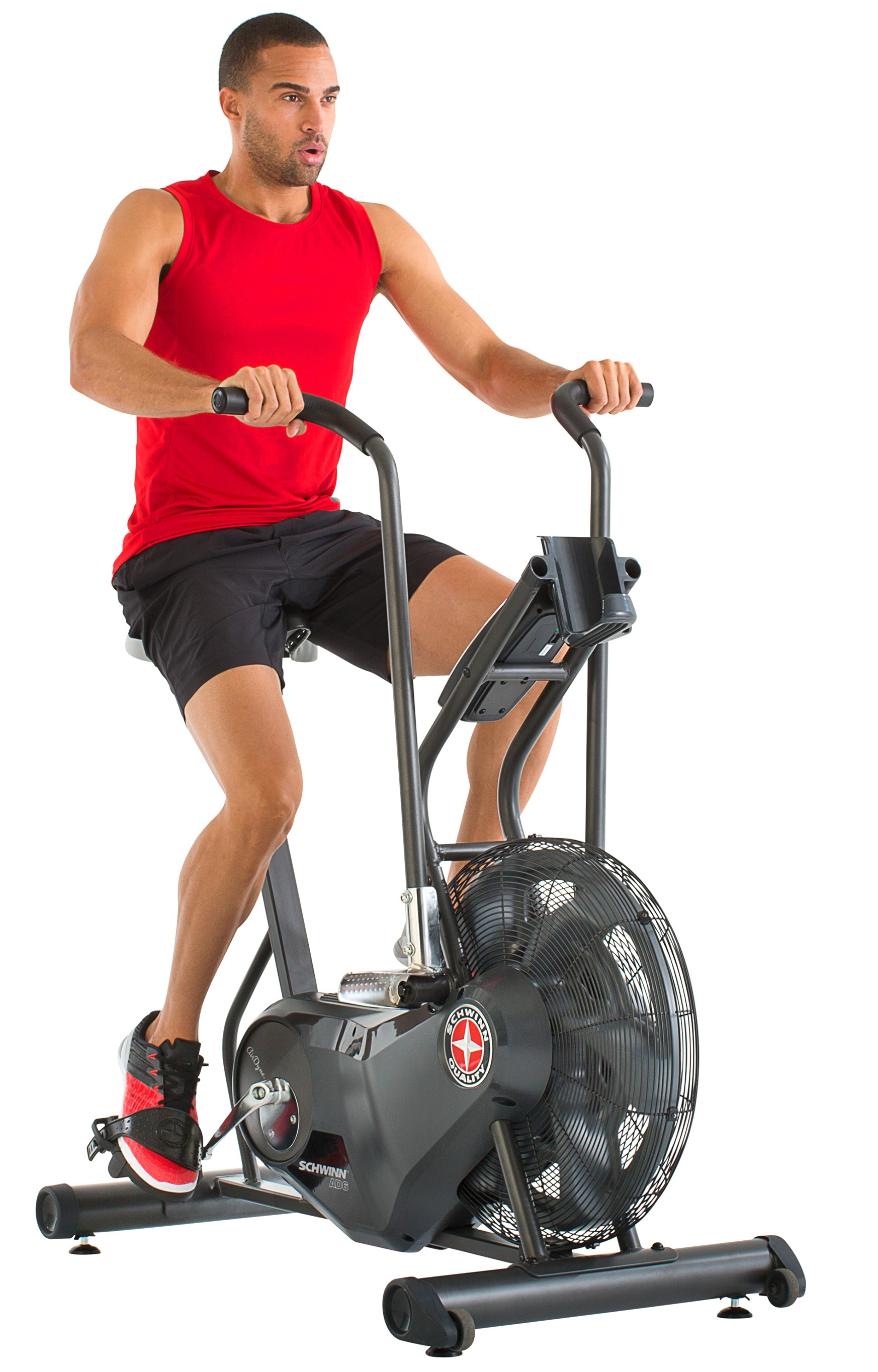 Schwinn Airdyne® AD6 with a Single-Stage Belt Drive & Infinite Levels of...
