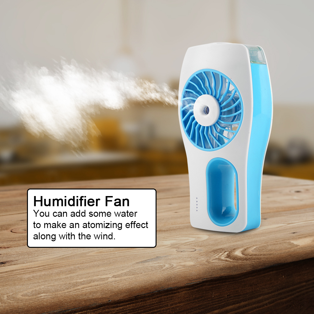 EECOO Handheld Mini USB Misting Fan Water Spray Cooling Mist Humidifier Home, Cooling Mist Humidifier,Water Spray Misting Fan
